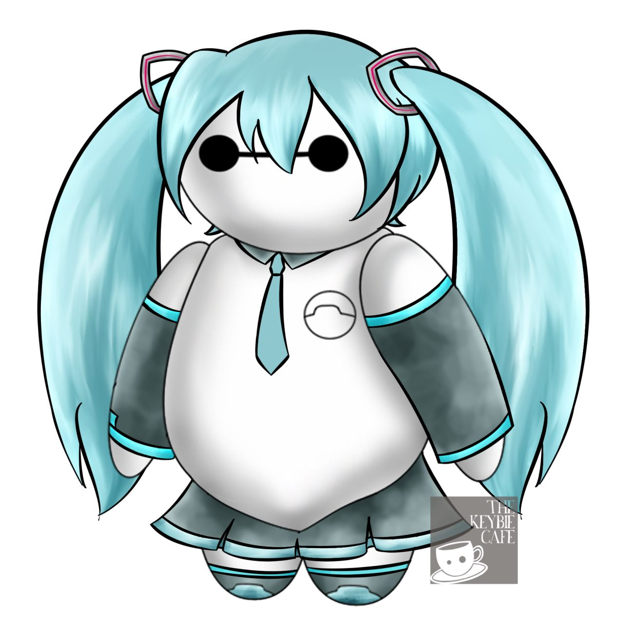 Miku Baymax (Open RP) *see's* Baymax dressed as Miku* Wh