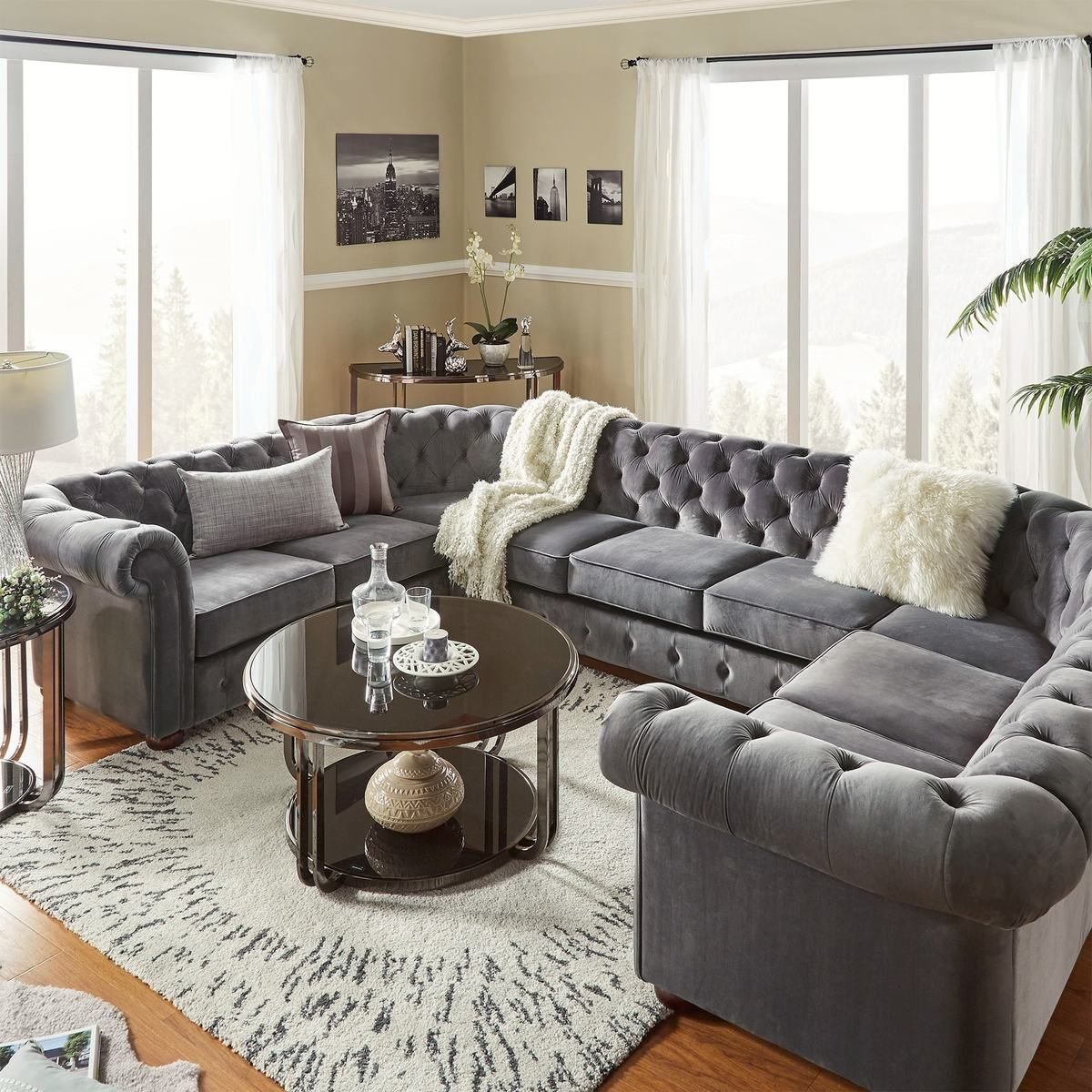 This Piece Is Designed In A U Shape Which Will Provide Enough Seating For All Your Family Members And Is Co U Shaped Sectional U Shaped Sofa Living Room Pieces