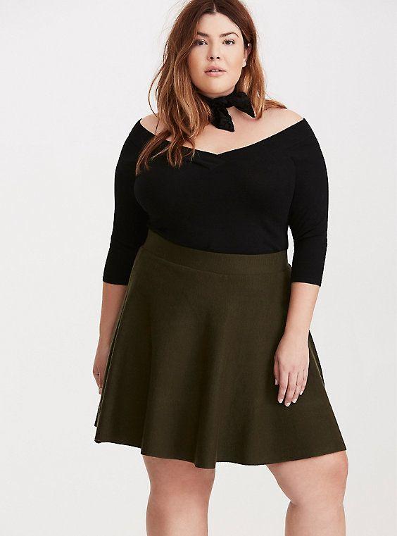 Plus Size Off Shoulder Ribbed Sweater, DEEP BLACK