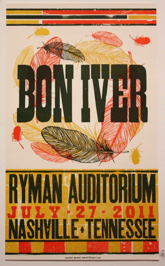 Bon Iver Hatch Show Print Letterpress Band Posters Poster Prints Art Music