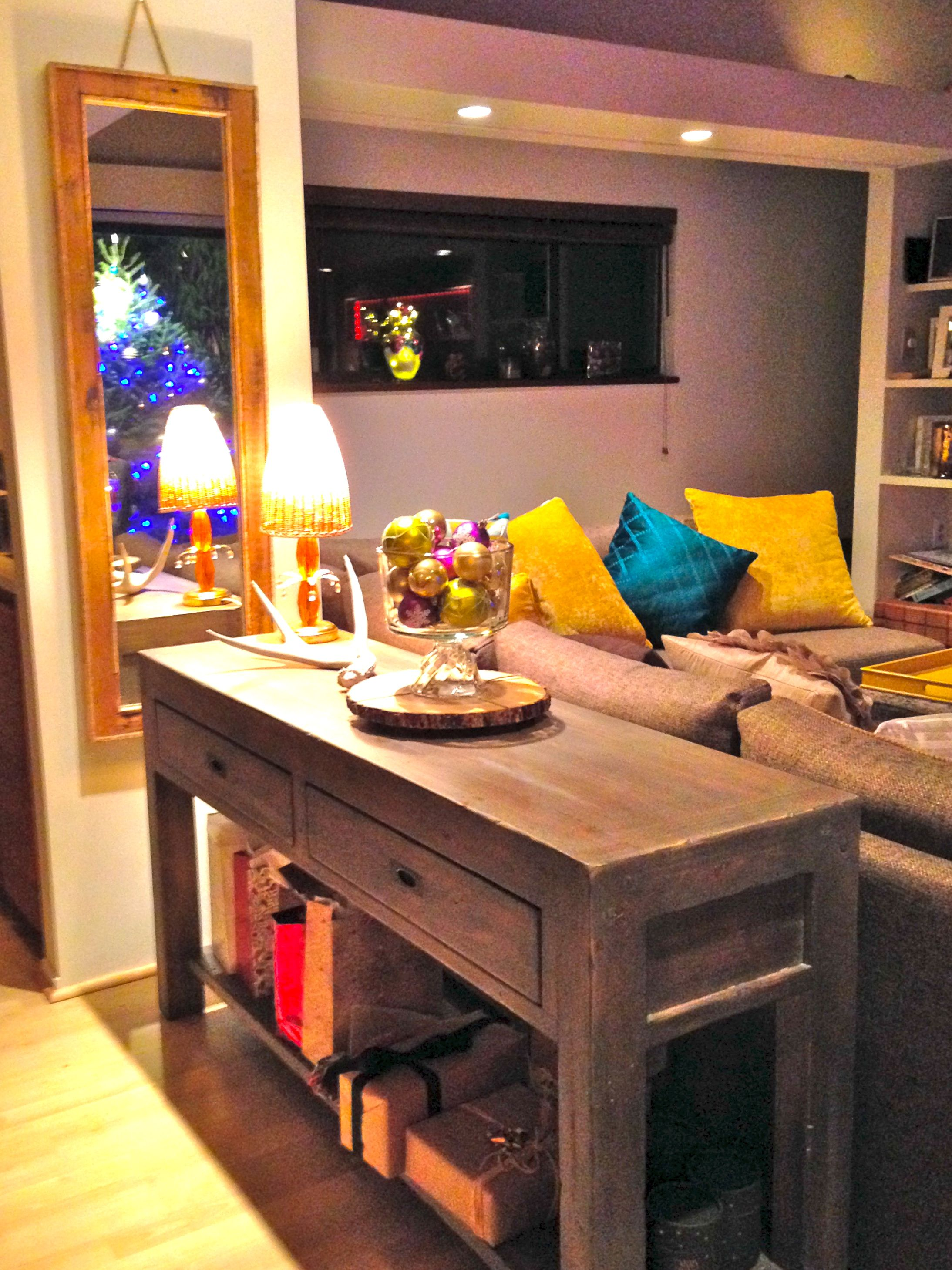 #MyUrbanBarn Contest: Post And Rail Console Table, With Van Gogh Sofa And  Yellow