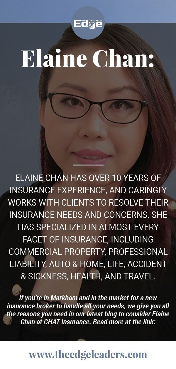 Elaine Chan Insurance broker, Professional liability