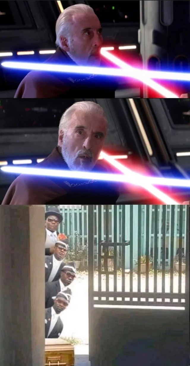 Photo of Don't know if it's been made yet, but I had to… : PrequelMemes
