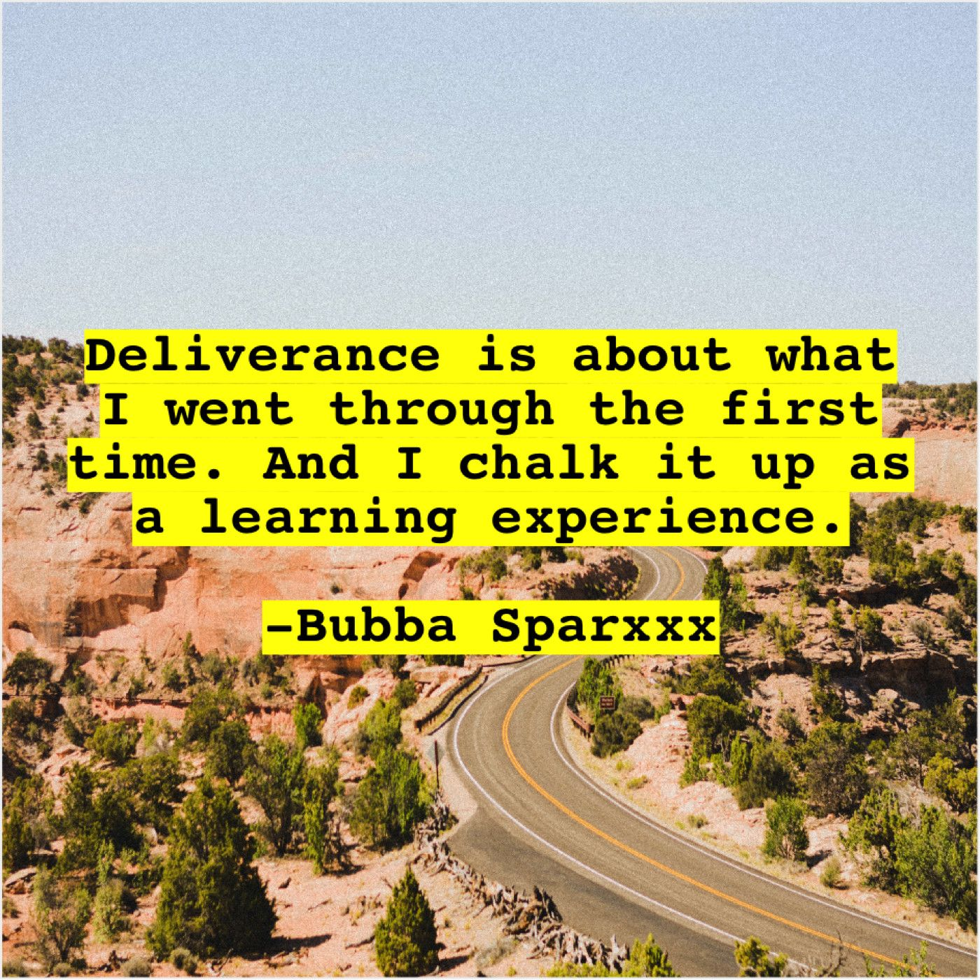 Bubba Sparxxx Deliverance is about what I | Famous Quotes
