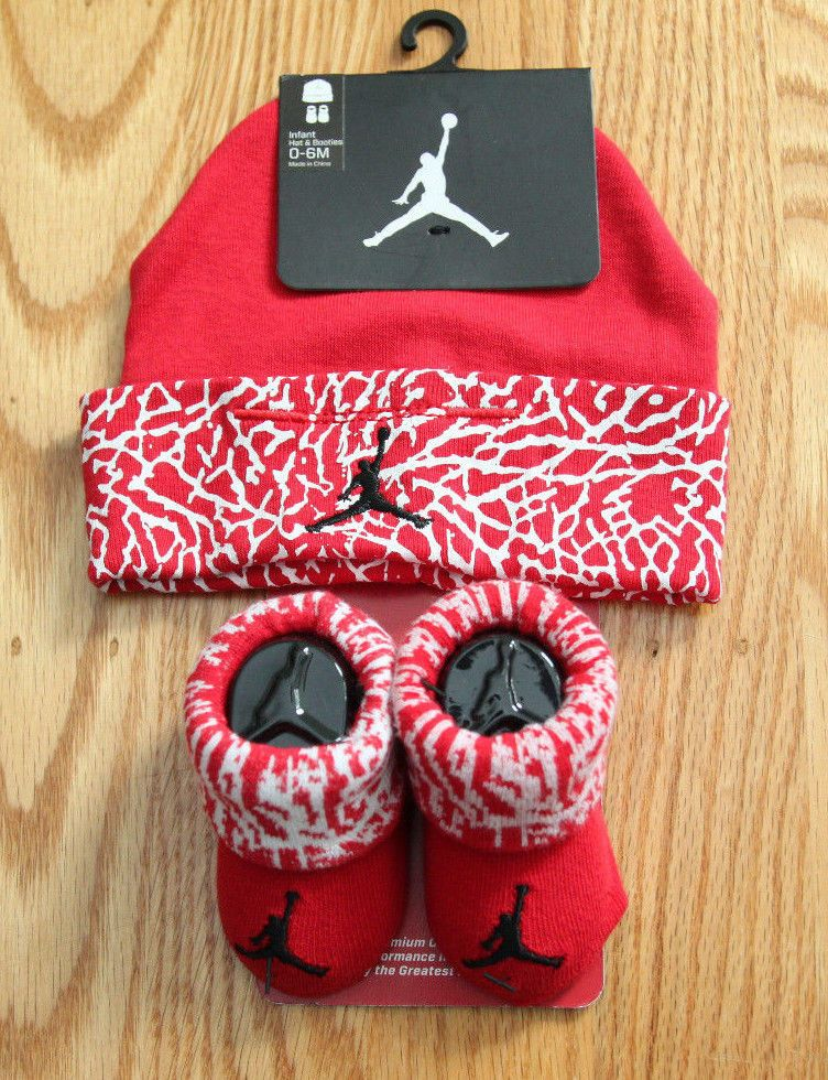 designer fashion f6ac1 e3ce4 Air Jordan Baby Boy Infant Hat   Booties Set ~ Red, White   Black ~ 0-6  Months  Jordan  Jumpman  BabyBoy  Hat Booties