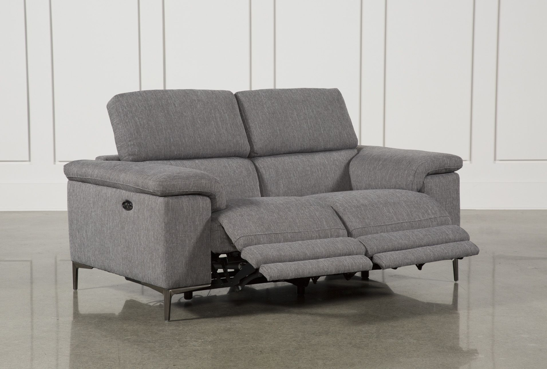 Sofa Natuzzi Electrico Talin Grey Power Reclining Loveseat W Usb In 2019 Products