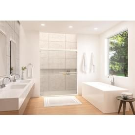 Holcam Distinctive 57 In To 60 In W Semi Frameless Bypass Sliding Shower Door Dsesilclrhs6074 Frameless Sliding Shower Doors Shower Doors Home Staging