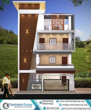 front elevation design building also modernes haus von dreieck visualizer team house rh pinterest