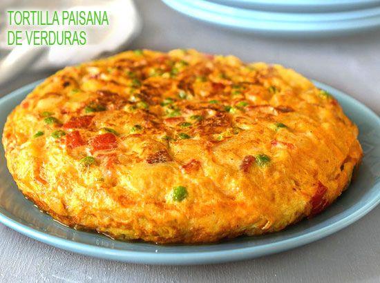 tortilla de patatas paisana de verduras