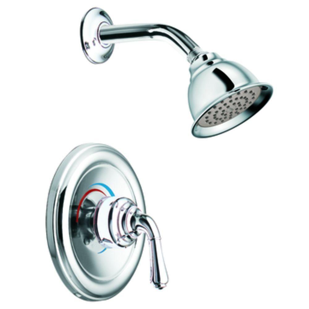 Moen Monticello 1 Handle Shower Faucet Trim Kit In Chrome Valve