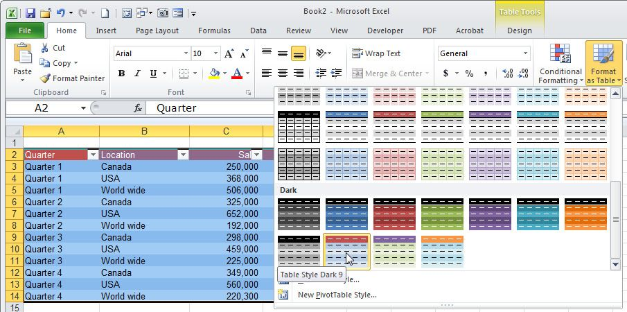 10 Secrets For Creating Awesome Excel Tables Microsoft Excel 10