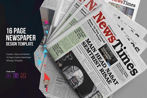 16 Page Newspaper Design V2 By Miyaji75 On Creativemarket