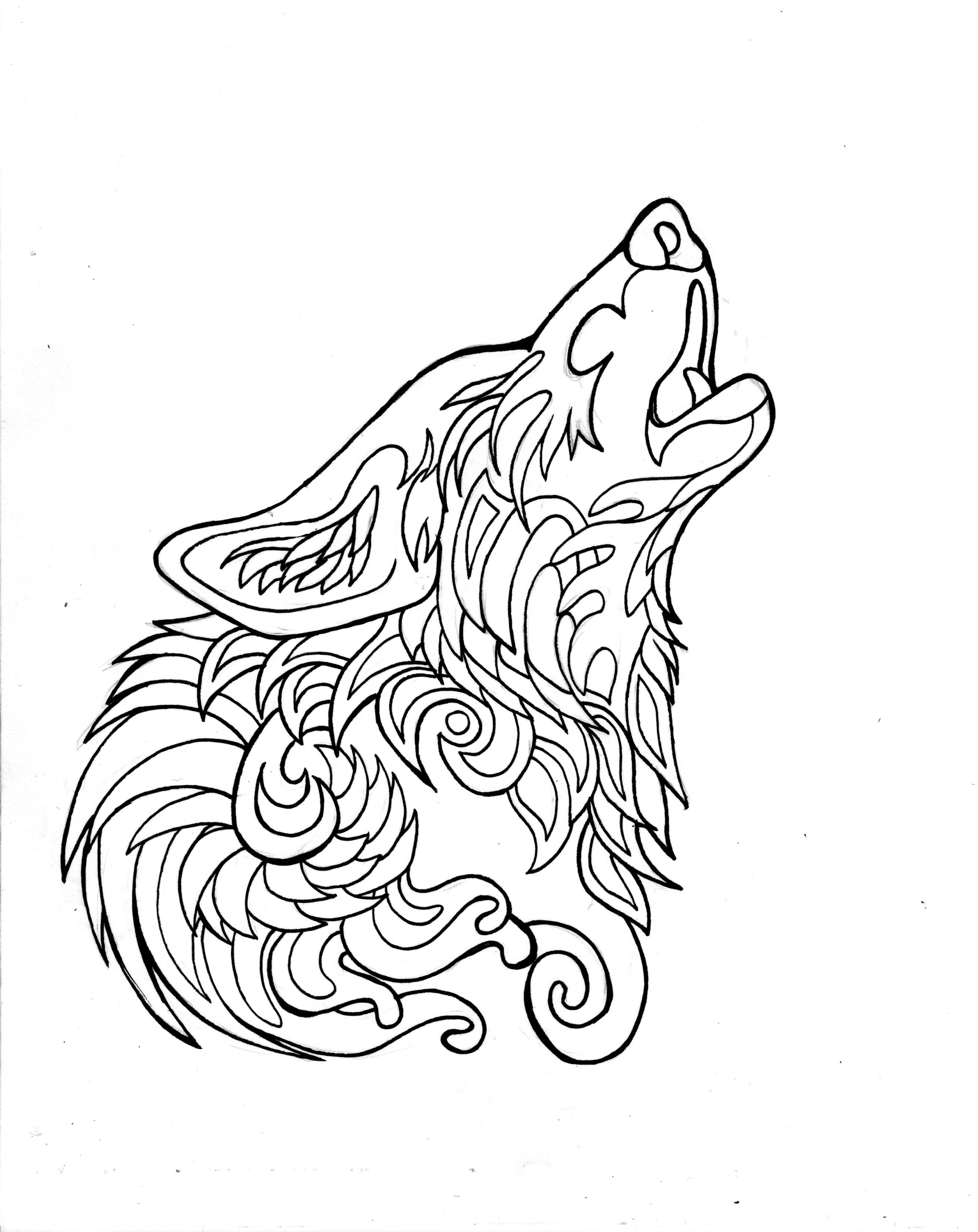 332  Free Howling Wolf Page   Animal coloring pages ...