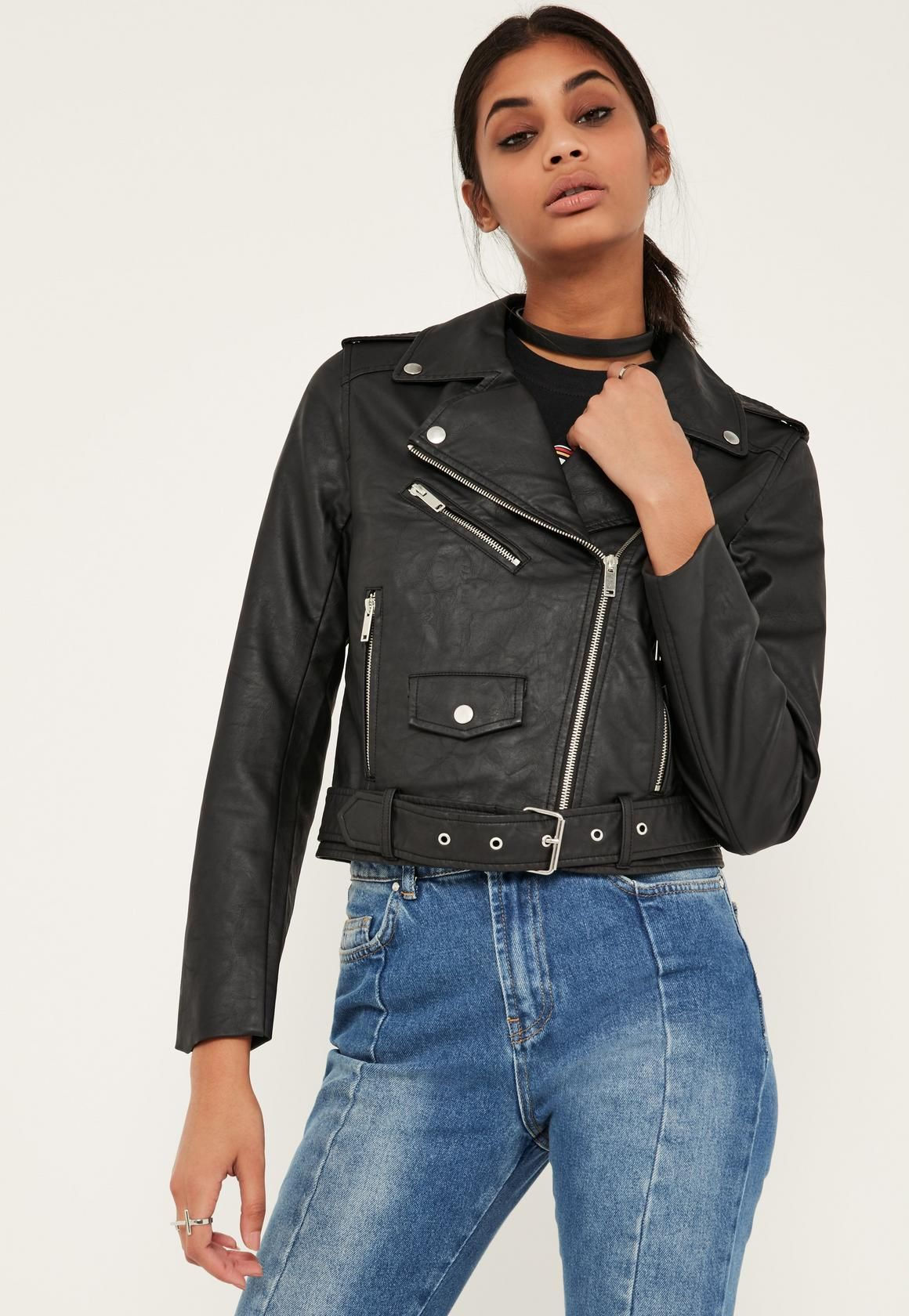 fb145f697 Black Ultimate Faux Leather Biker Jacket | In the Closet | Jackets ...