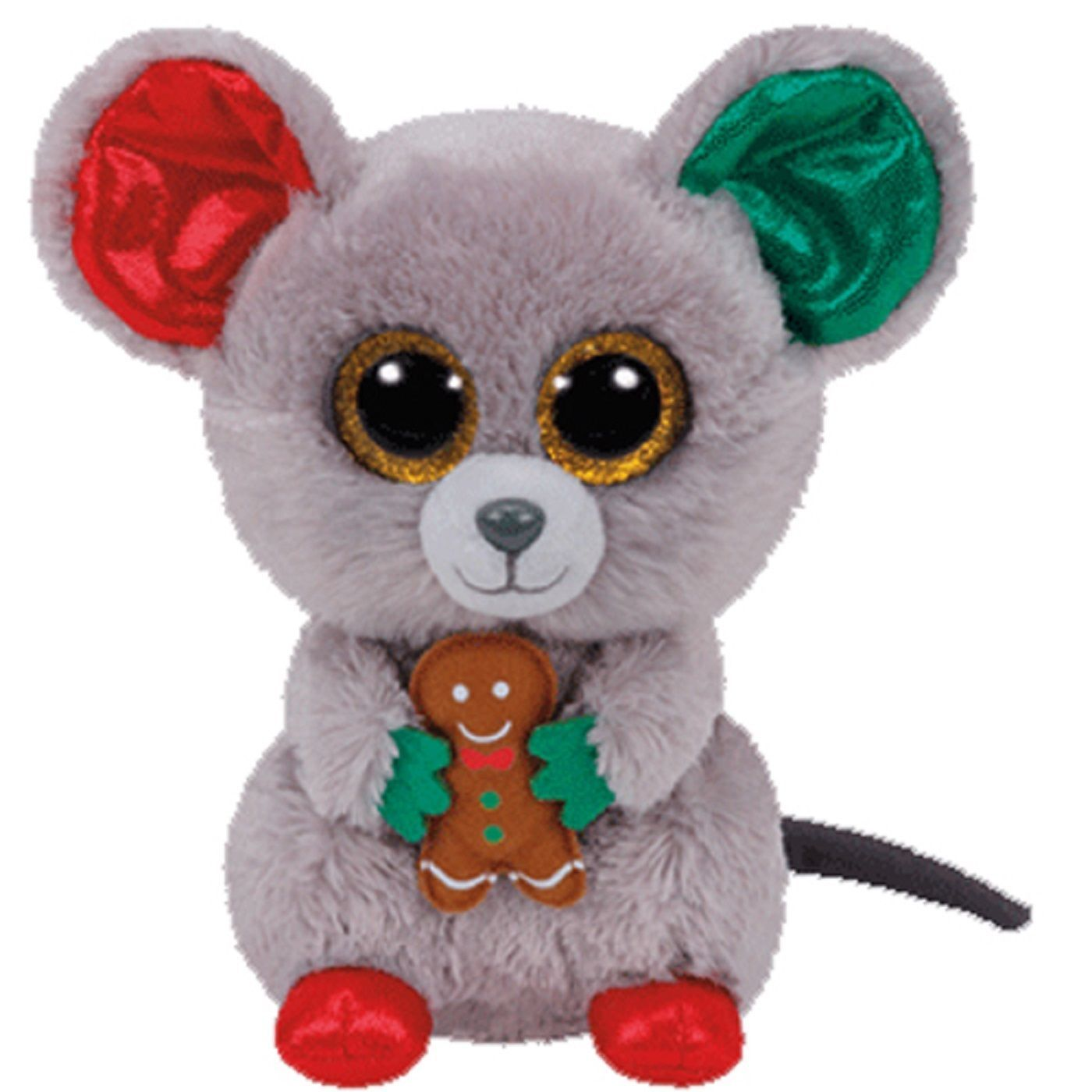 "Ty Beanie Boos MAC the 6"" Christmas Holiday Mouse 2016 NEW"