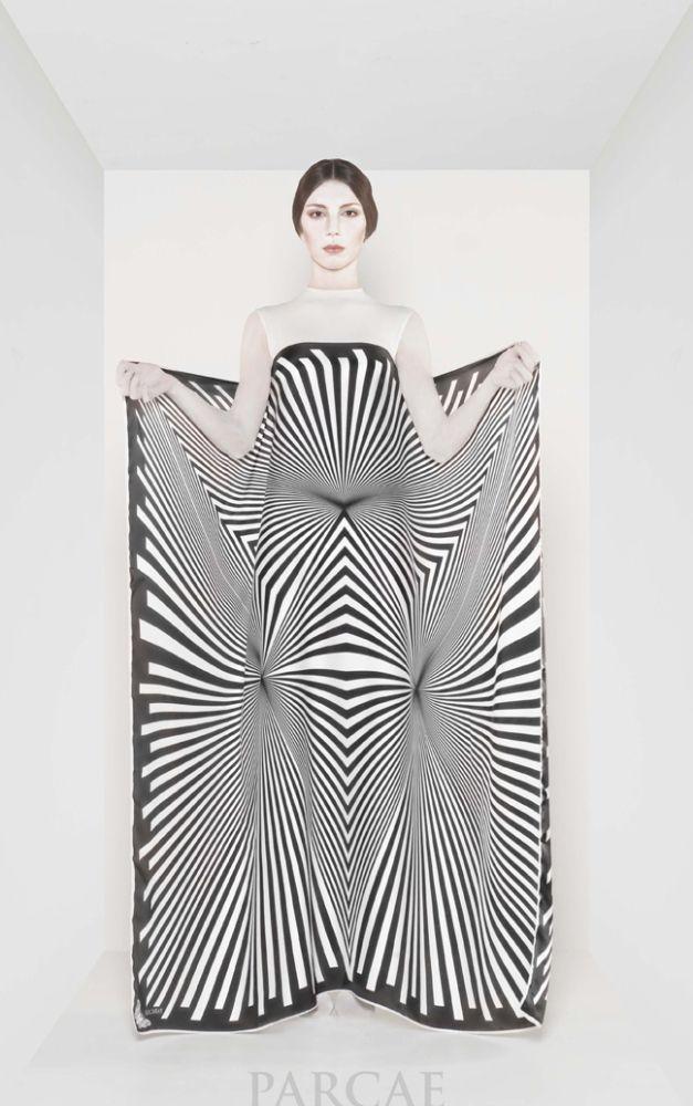 Omaggio a Bridget Riley Visit www.parcae.it #fashion #art #chiffon #trend #madeinitaly #foulard #islamic #islamicsize #woman #chic #silk #satin #tradition #foulardaddicted #foulards #style #moda #modaitaliana #fashionweek #elegance #wishlist #carré #islamicsizes #luxury #fw2014 #black #white #shopping #georgette #beautiful #instafashion #fashionblog #fashionista #instastyle
