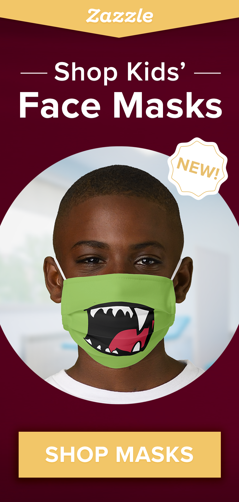 Introducing face masks for kids! Masks are easily adjustable to fit perfectly around your child's face and ears. Browse thousands of designs including cute, funny, superheroes, holiday designs and more.