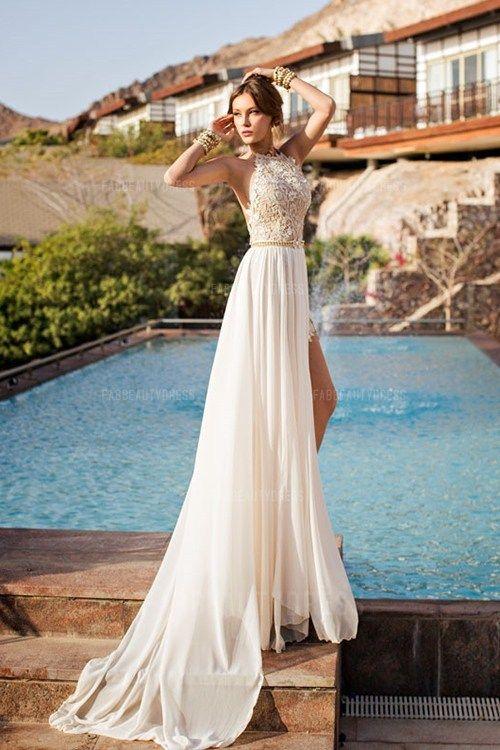 Princess Jewel Court Train Chiffon Wedding Dress | Chiffon wedding ...