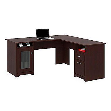Bush Furniture Cabot L Shaped Desk Espresso Oak Wc31830 03k
