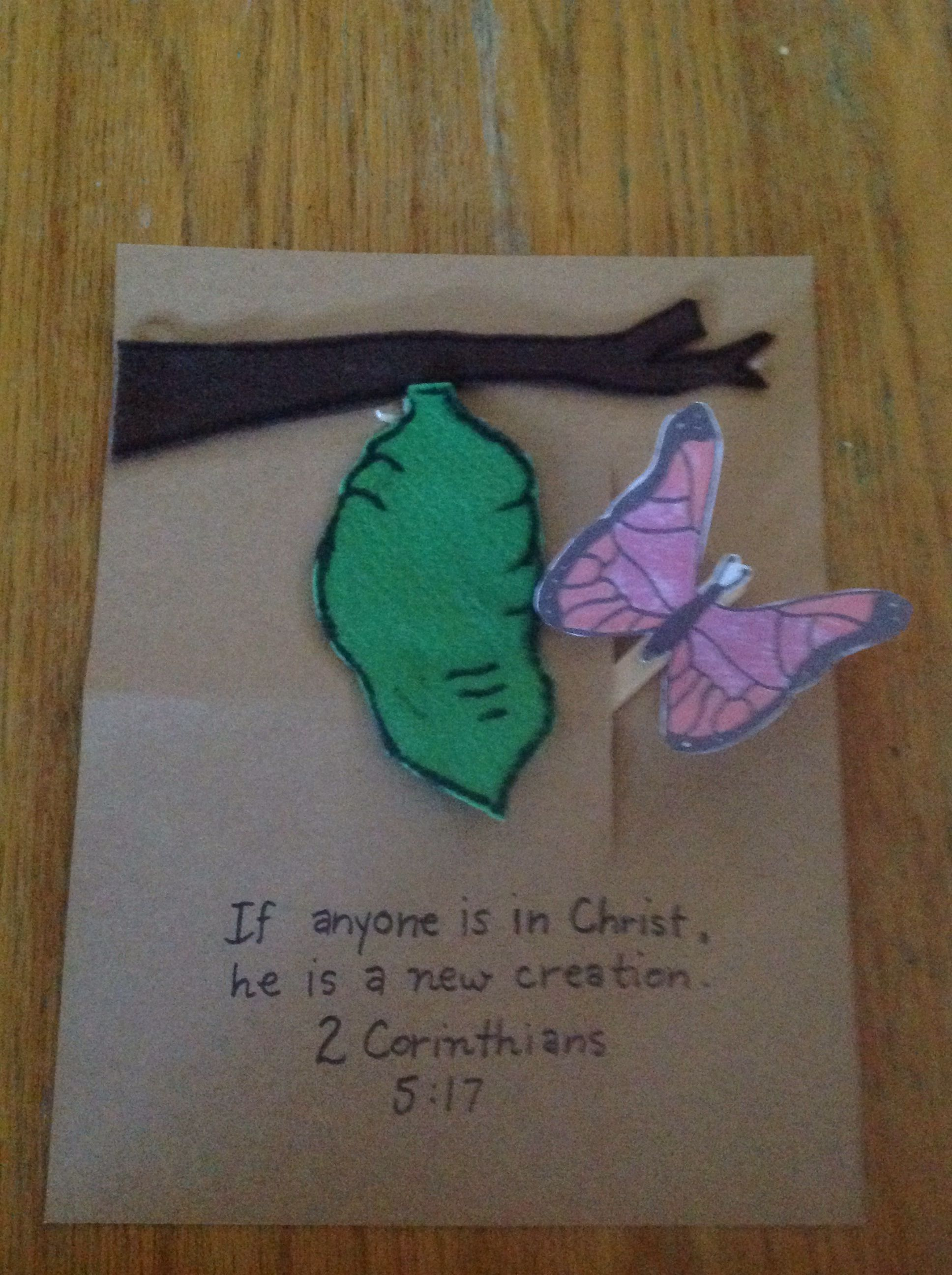 Craft for creation story - New Creation In Christ Craft By Let
