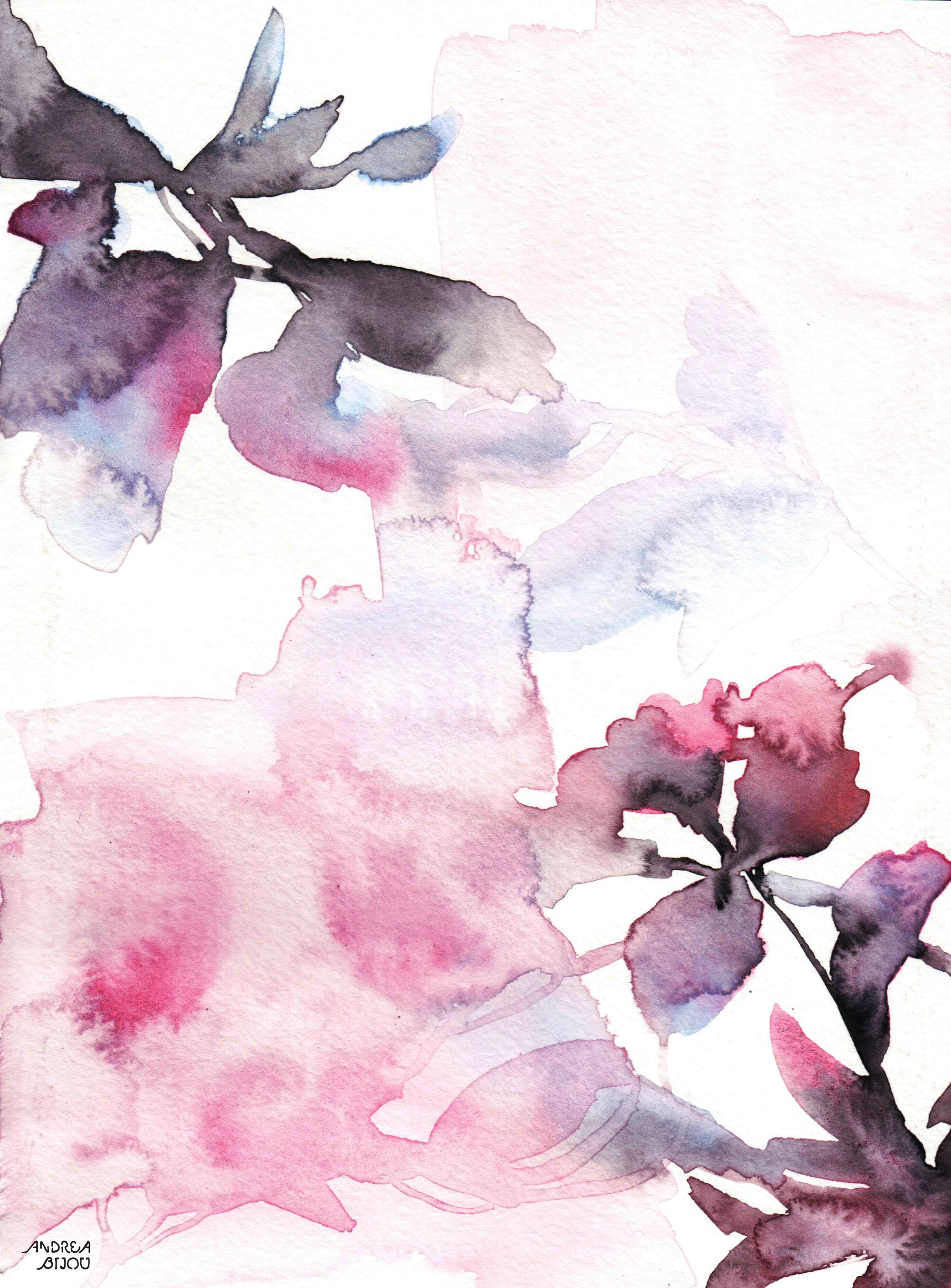 Attraction Watercolor Art Print In 2020 Watercolor Art