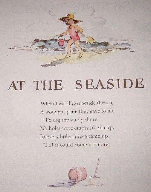 At the Seaside | Childrens poems, Nursery rhymes poems, Kids poems