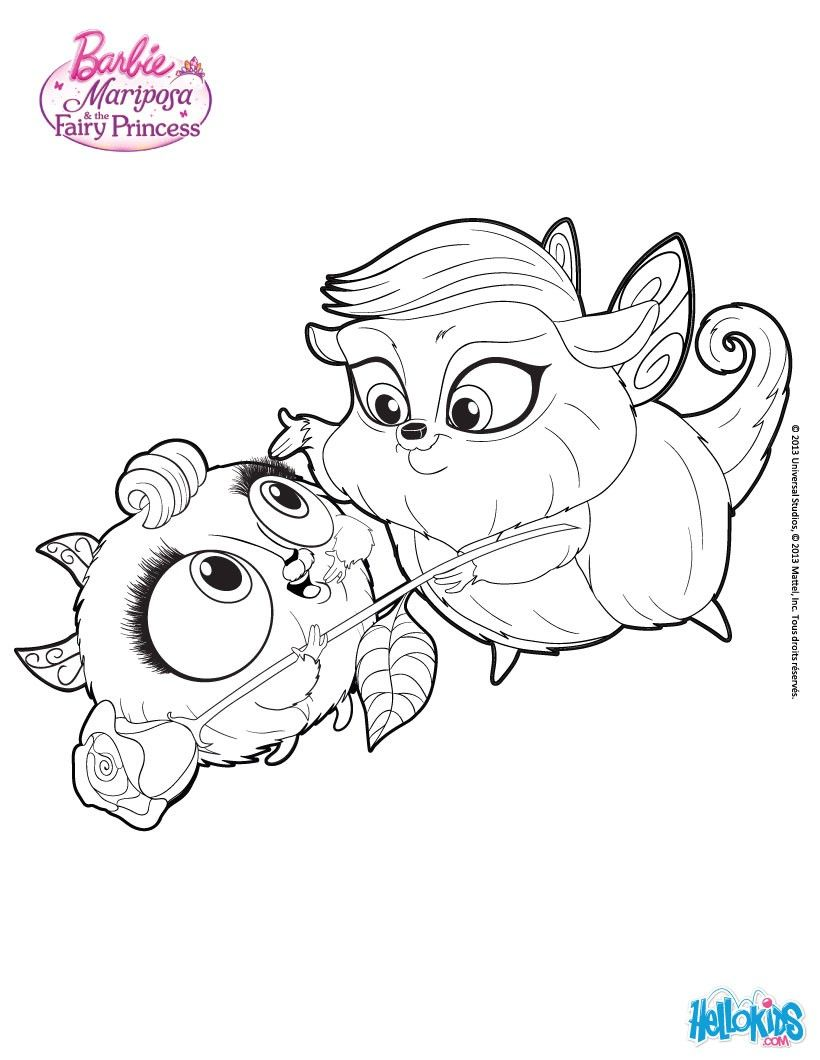 Zee And Anu Cute Pets Barbie Coloring Page More Barbie Mariposa Coloring Sheets On Hellokids Com Coloring Pages Barbie Coloring Pages Barbie Coloring