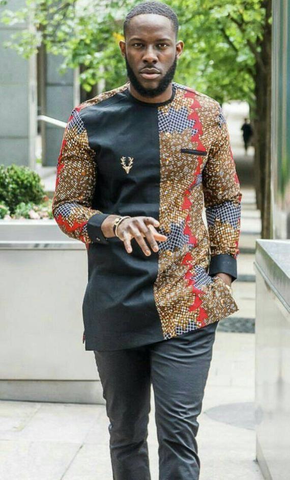 African men clothing, African men outfit, African dashiki, dashiki for men, African attire en ...