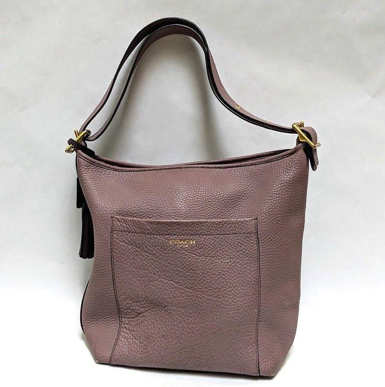 32c91f22c9 COACH Purple Legacy Duffle Bucket Leather Tassel Shoulder Crossbody 25678  XL  Coach  Crossbody