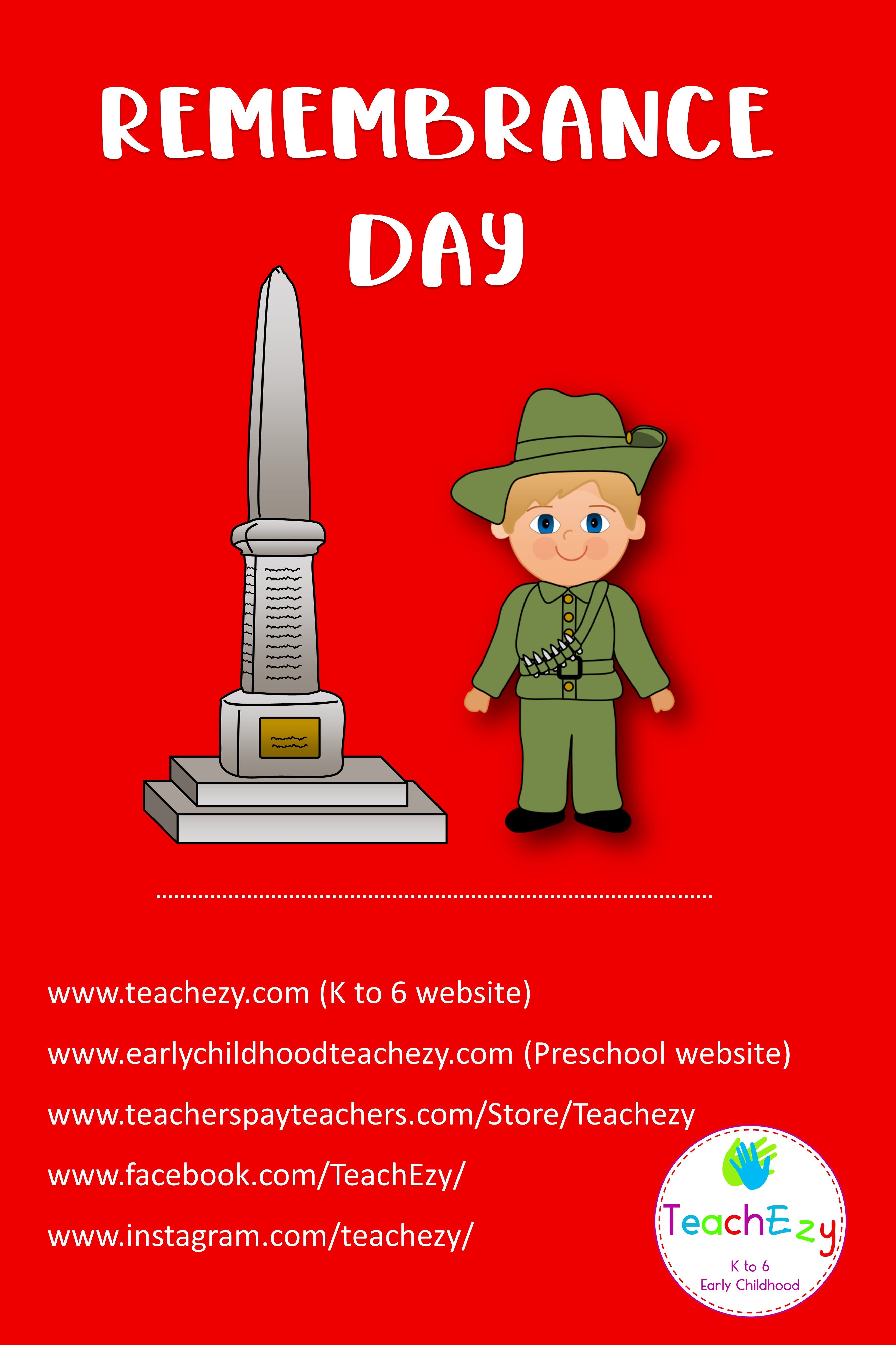 Idea By Teachezy On Remembrance Day