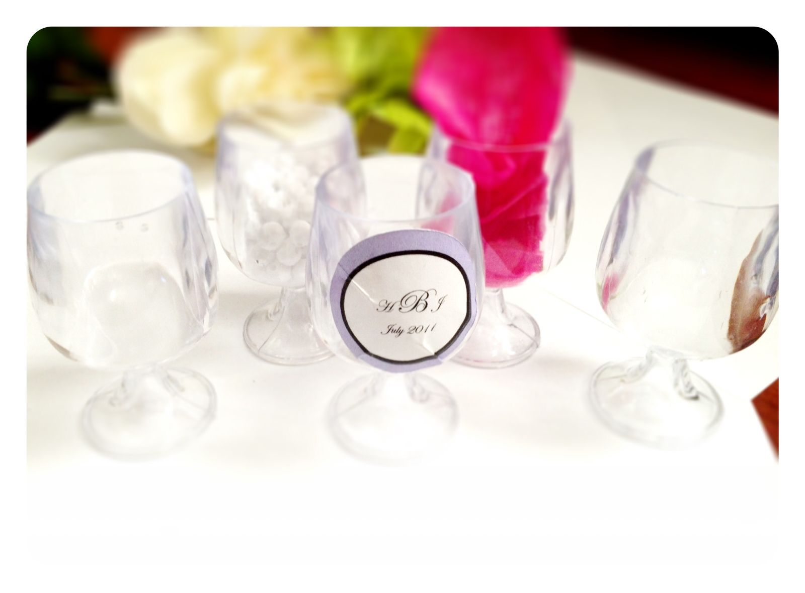 Wine Glasses - Wedding Favors Customize with candy, tissue paper ...