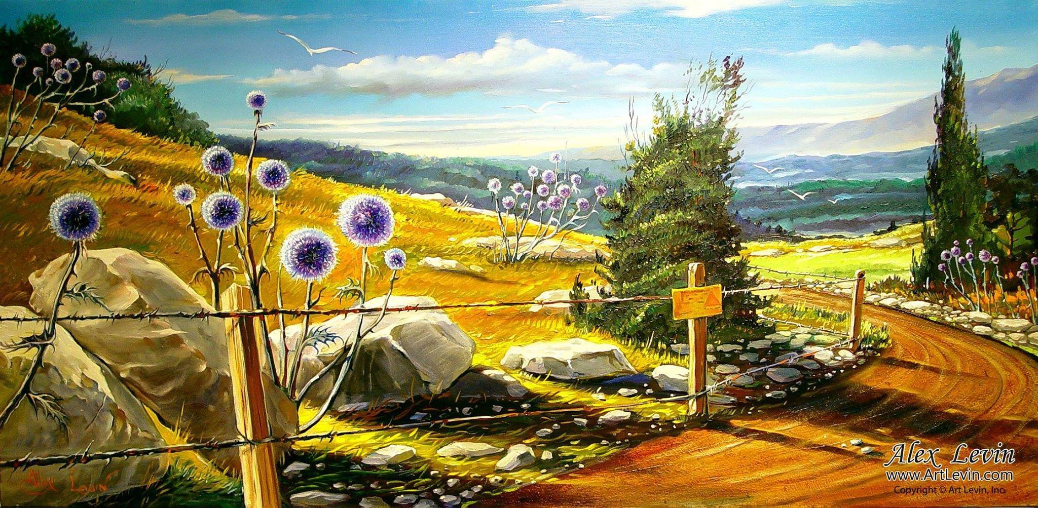 Golan Heights, ISRAEL- | Israeli Artist / Alex LEVIN | Pinterest ...