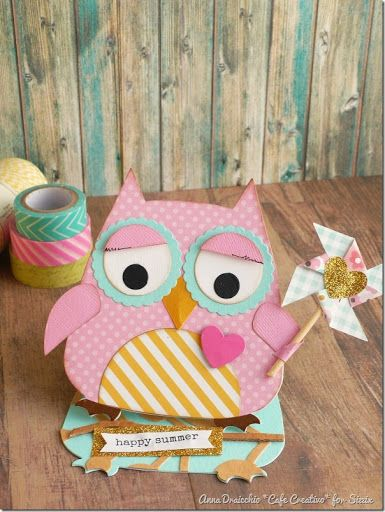 Crafting ideas from Sizzix UK: Summer Easel Card Owl