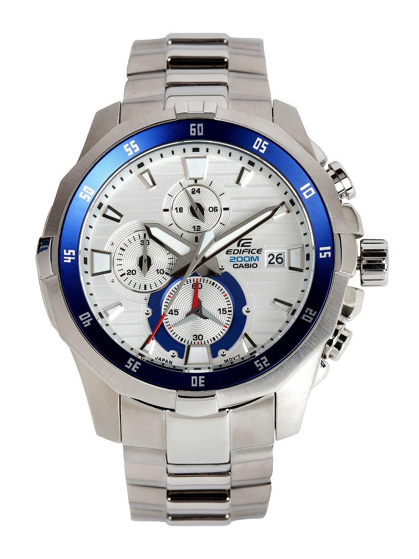 Buy Casio Edifice Men Silver Toned Dial Watch 361