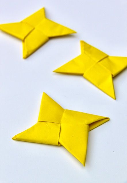 Origami Ninja Throwing Star – Smashed Peas & Carrots