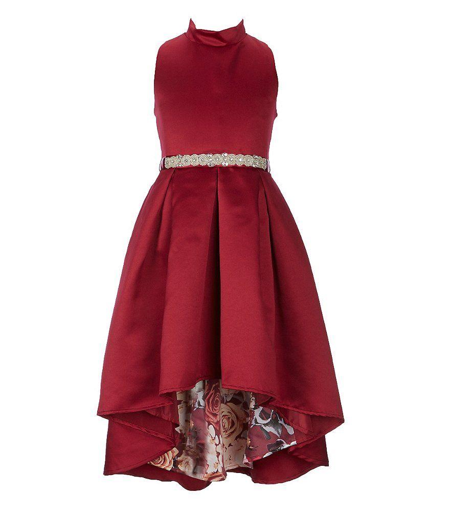 c34da1b83 Rare Editions Big Girls 7-16 Satin Floral Inner Beauty High-Low Dress