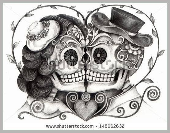 Eternal Love Skull Couple Tattoo Sugar Skull Tattoos Skull