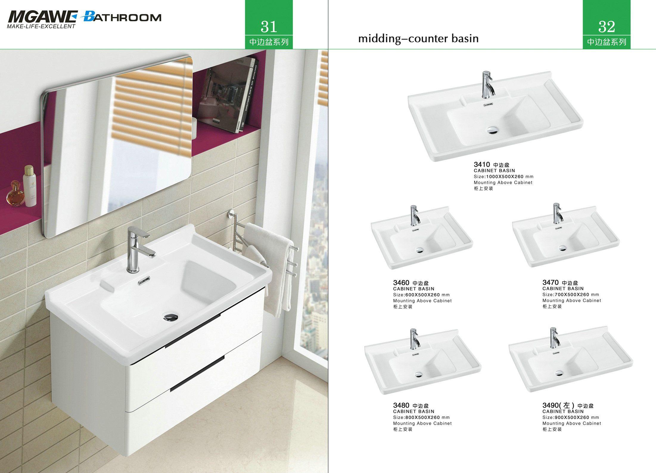Counter Wash Basin Deep Bathroom Sink Enamel Wash Basin Sink Wash Basin Vanity Sink [ 1588 x 2202 Pixel ]