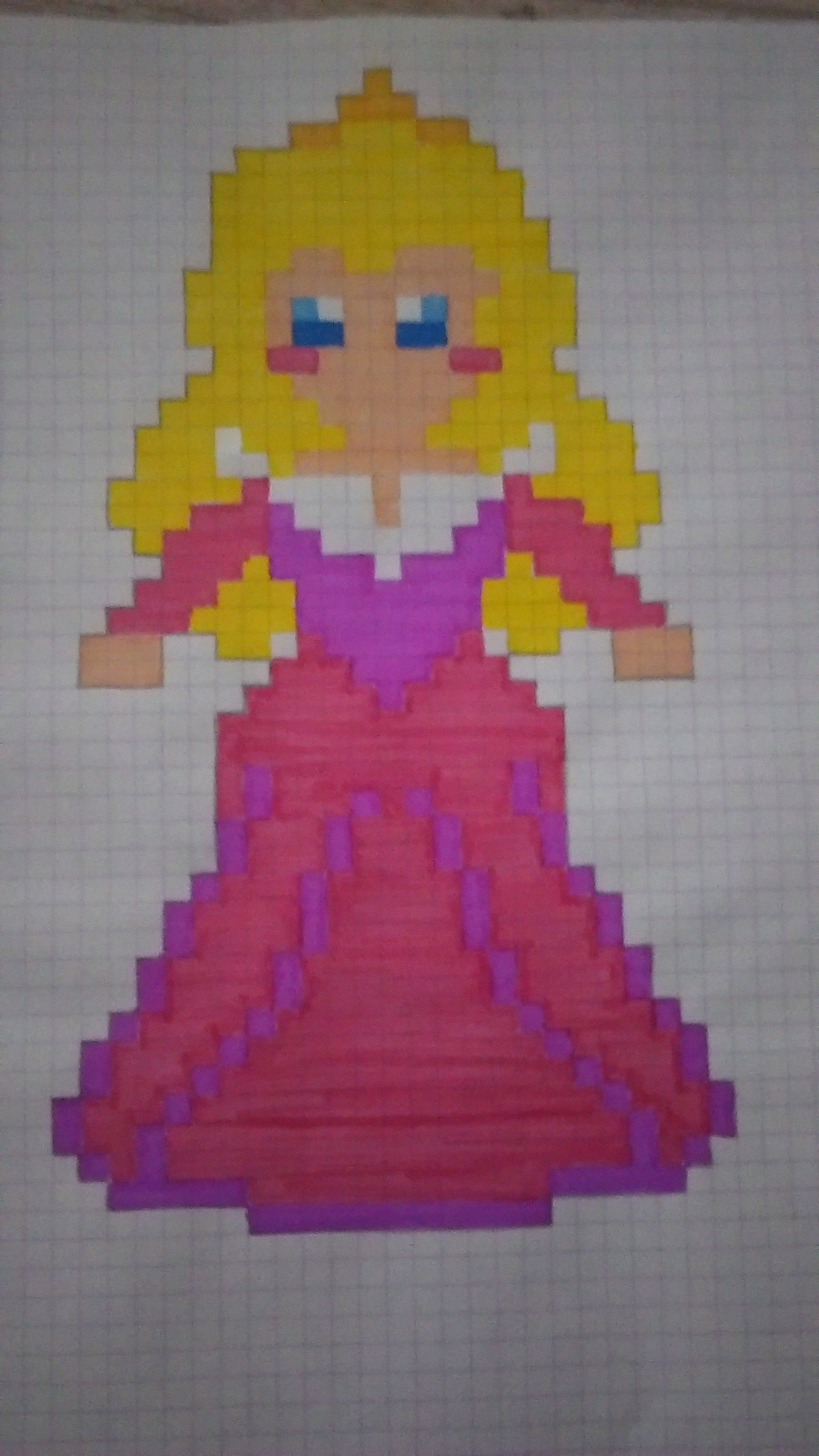 Princesse Aurore En Pixel Art La Belle Aux Bois Dormant