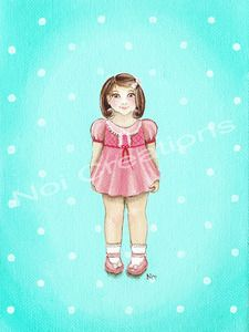 """Image of Noi Art Print - Connie Paper Doll 6"""" x 8"""""""