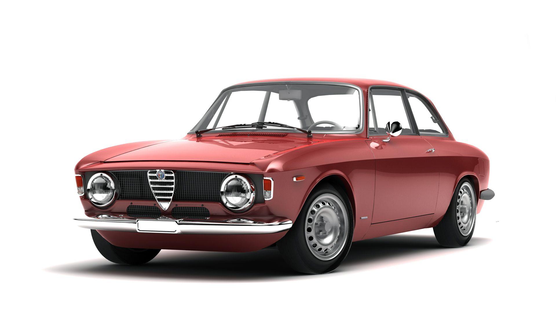 Alfa Gta 65 3d Model Flatpyramid Alfa Romeo Gta Alfa Gta Alfa Romeo