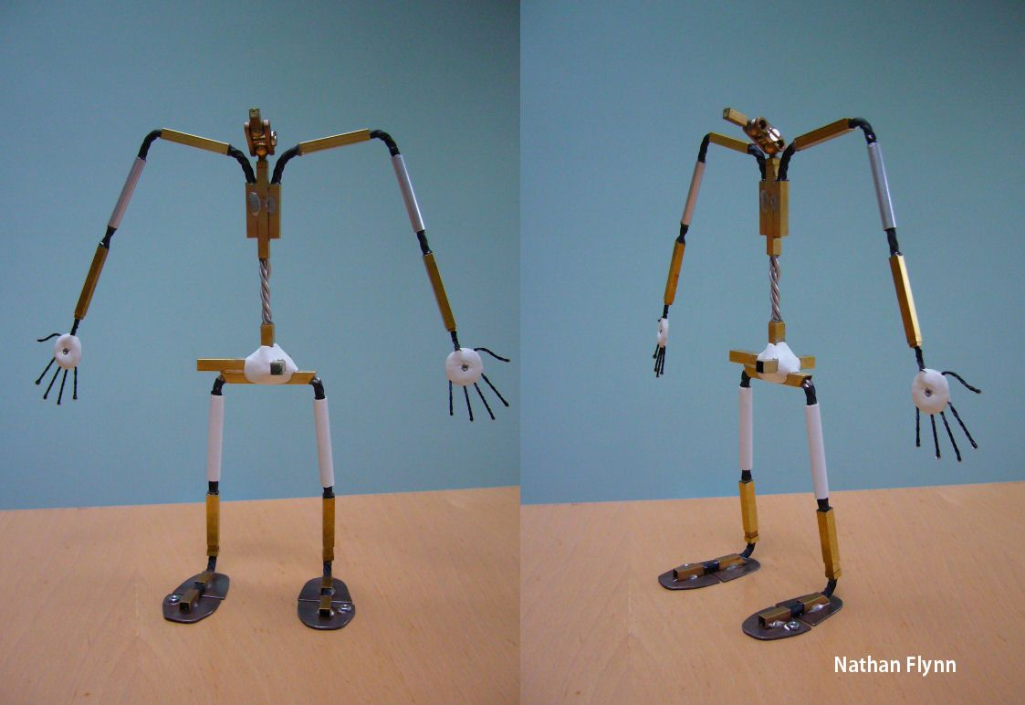 Below are the finished wire armatures of the three main characters ...