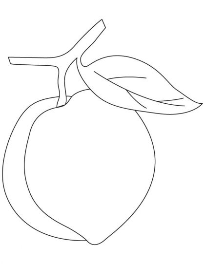 Peach Coloring Page Download Free Peach Coloring Page For Kids