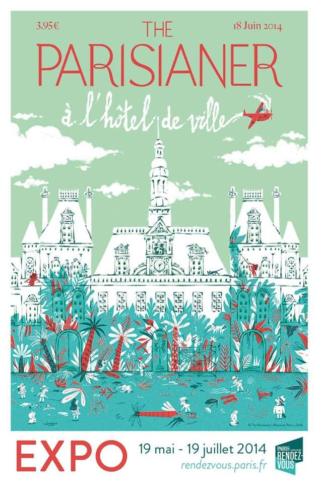 """Paris The Parisianer  Art Print Poster 24/"""" x 36/"""""""