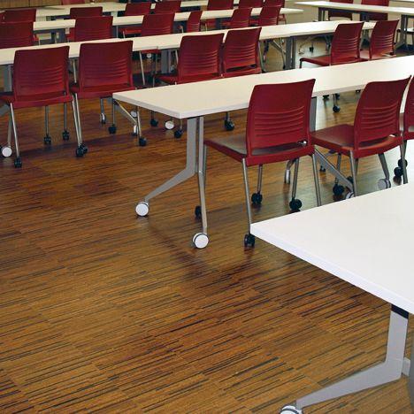 Capri Cork Installation Gallery Small Strips Floor Installation
