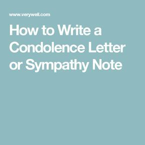 Steps To Help You Write A Condolence Letter  Condolence Letter