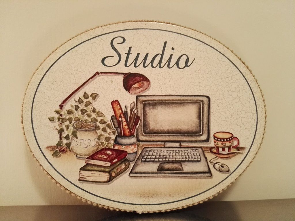Targhette bagno ~ Targhetta ovale studio targhette