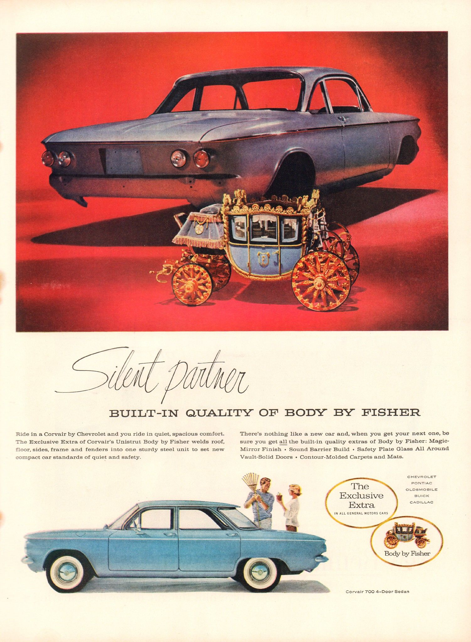 1960 Chevrolet Corvair Body By Fisher Advertisement Life Magazine May 2 1960 Chevrolet Corvair Chevrolet Vintage Muscle Cars