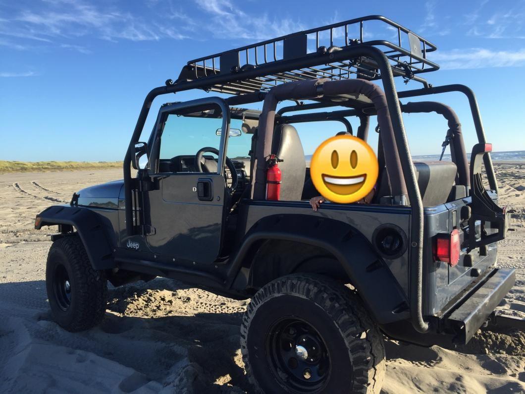 Barricade Jeep Wrangler Roof Rack Textured Black J100172 97 06 Jeep Wrangler Tj Excluding Unlimited Roof Rack Wrangler Tj Jeep