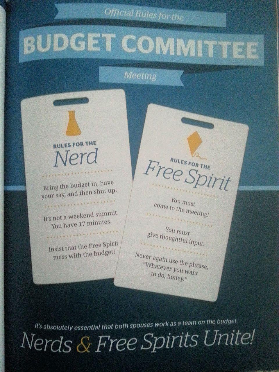 Budget meeting time. #Nerd vs. Free #Spirit | Dave Ramsey FPU ...